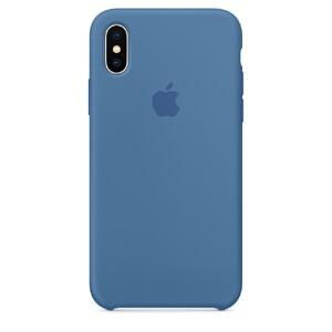 Купить Силиконовый чехол Apple Silicone Case Denim Blue (MRG22) для iPhone X/XS