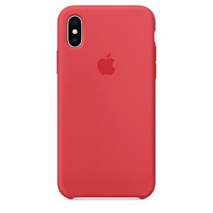 Купить Силиконовый чехол Apple Silicone Case Red Raspberry (MRG12) для iPhone X/XS