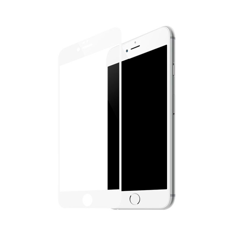 Защитное стекло Baseus Silk Screen Printed 0.2mm White для iPhone 7 Plus