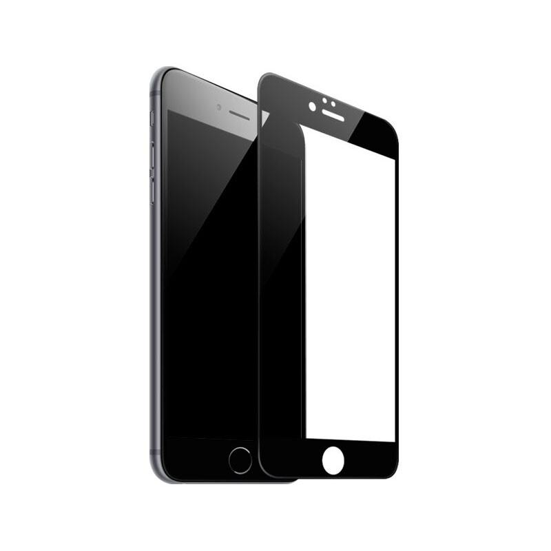 Защитное стекло Baseus Silk Screen Printed 0.2mm Black для iPhone 7 Plus