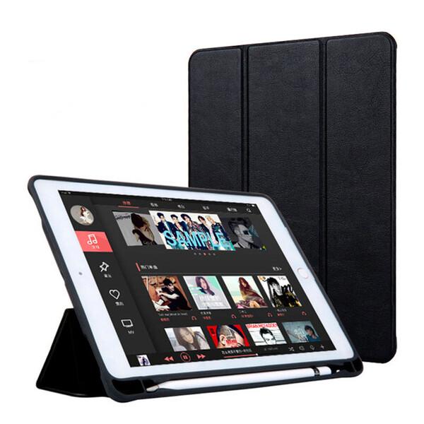 "Чехол с держателем для стилуса iLoungeMax Protective Smart Cover Black для iPad 9.7"" (2017 | 2018)"
