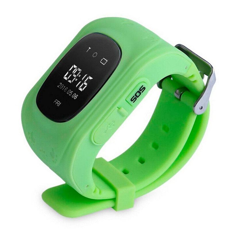 Купить Детские часы-телефон oneLounge с GPS-трекером Q50 Салатовые