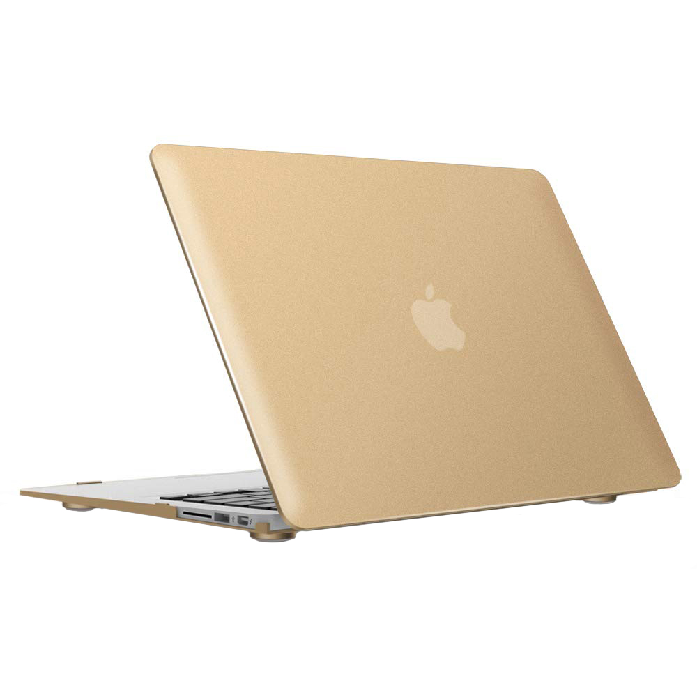 """Купить Пластиковый чехол iLoungeMax Soft Touch Metallic Gold для MacBook Air 13"""" (2008-2017)"""