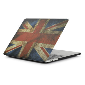Купить Пластиковый чехол Soft Touch Matte UK Flag для MacBook Pro 13'' (2016/2017/2018)