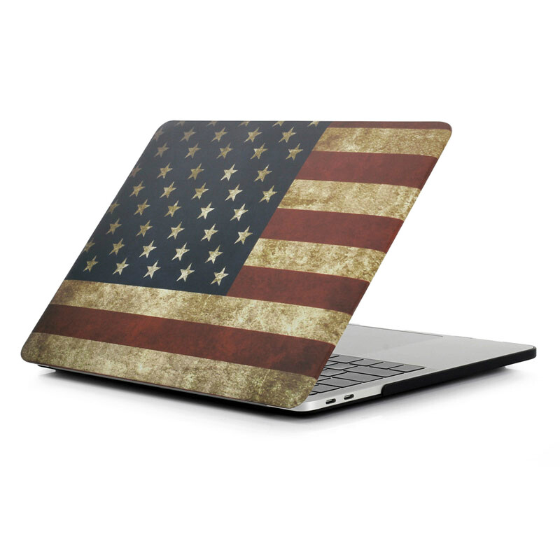 "Пластиковый чехол iLoungeMax Soft Touch Matte USA Flag для MacBook Pro 13"" (2016-2020)"