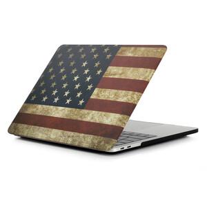 Купить Пластиковый чехол Soft Touch Matte USA Flag для MacBook Pro 13'' (2016/2017/2018)