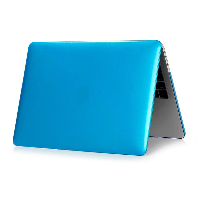 "Пластиковый чехол iLoungeMax Soft Touch Metallic Blue для MacBook Pro 13"" (2016-2019)"
