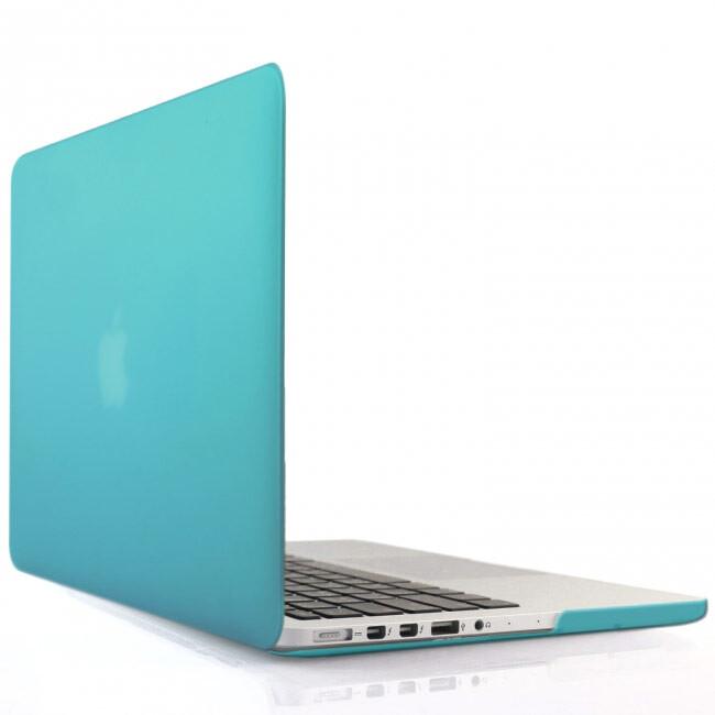 """Синий пластиковый чехол Soft Touch для MacBook Pro 15"""" Retina"""