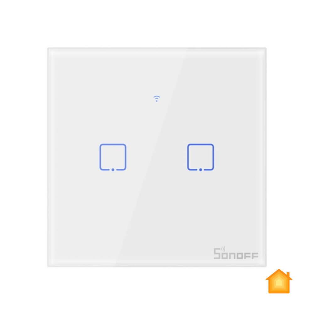 Умный сенсорный выключатель HomeKit Sonoff TX T0EU2C (2 канала)