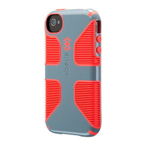 Купить Защитный чехол Speck CandyShell Grip Nickel Grey/Warning Orange для iPhone 4/4S
