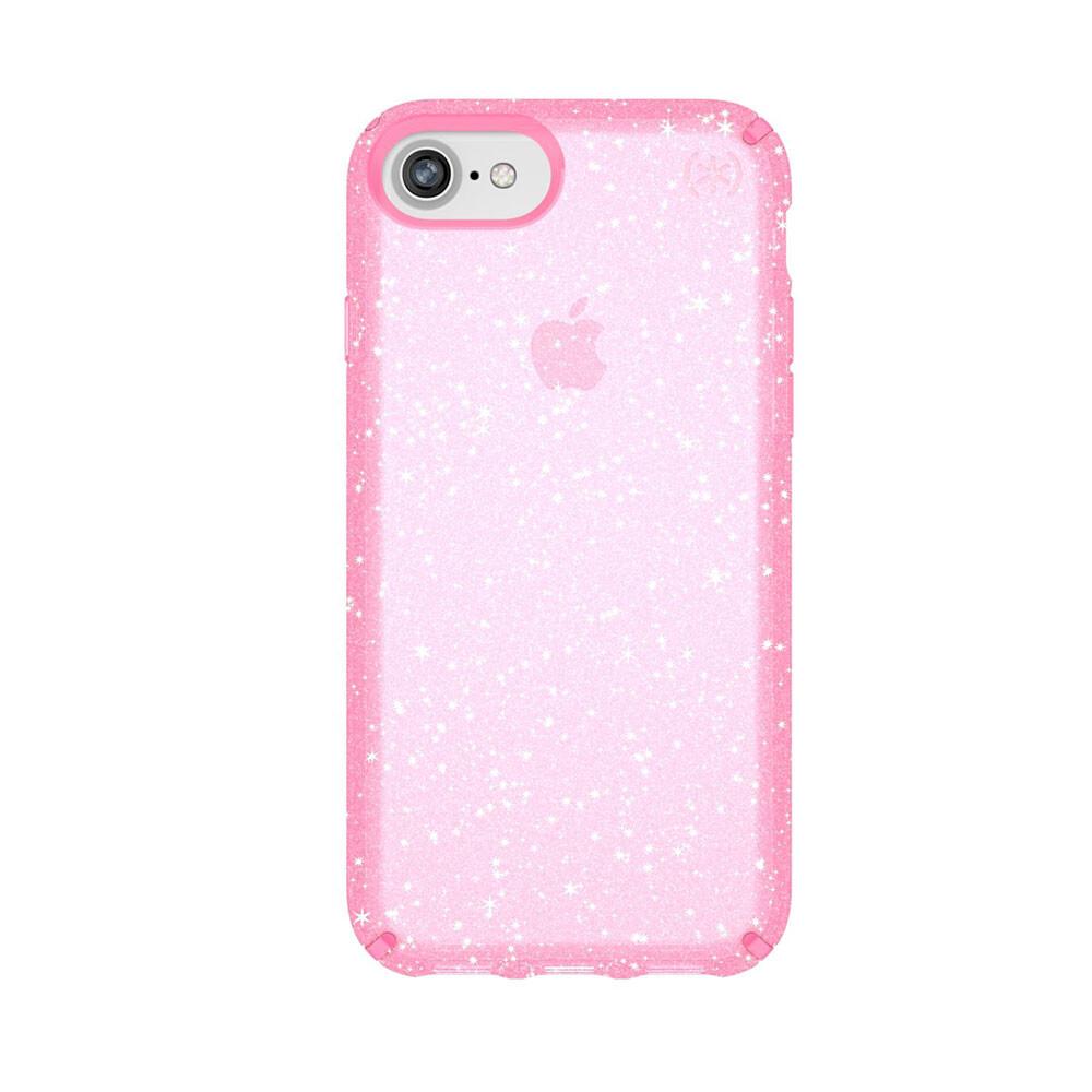 Чехол-накладка Speck Presidio Clear + Glitter Bella Pink With Gold Glitter для iPhone 8/7/6s/6