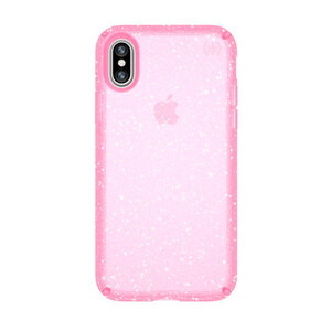 Купить Чехол-накладка Speck Presidio Clear + Glitter Bella Pink/Gold Glitter для iPhone X/XS