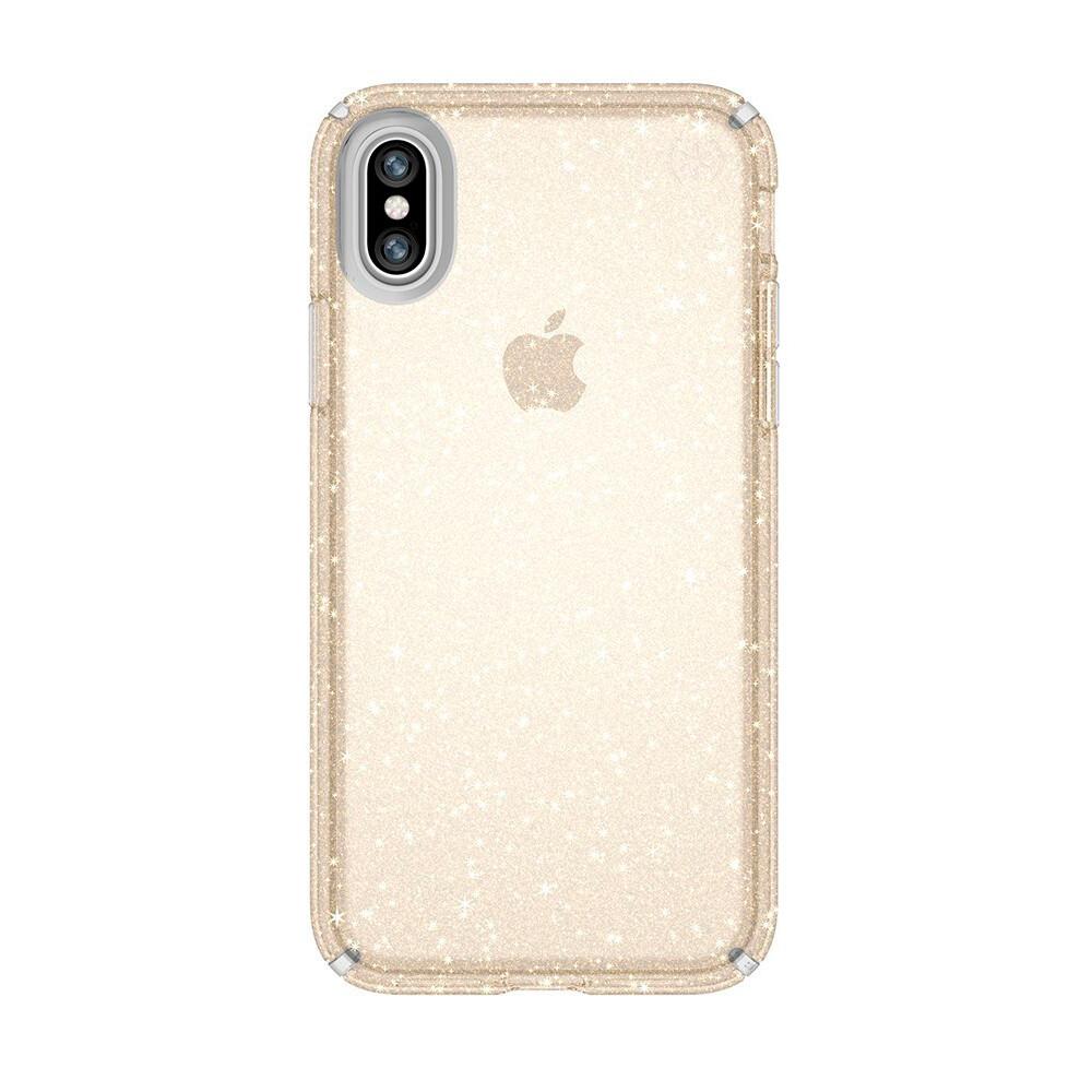 Чехол-накладка Speck Presidio Clear + Glitter Clear/Gold Glitter для iPhone X/XS