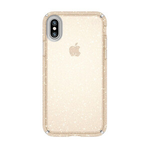 Купить Чехол-накладка Speck Presidio Clear + Glitter Clear/Gold Glitter для iPhone X/XS