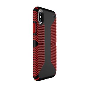Купить Защитный чехол Speck Presidio Grip Black/Dark Poppy Red для iPhone X
