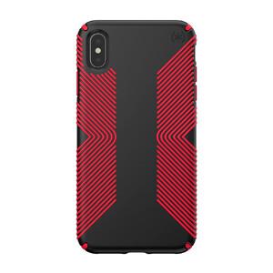 Купить Противоударный чехол Speck Presidio Grip Black/Dark Poppy Red для iPhone XS Max