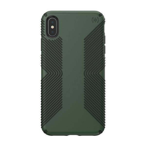 Противоударный чехол Speck Presidio Grip Dusty Green   Brunswick Black для iPhone XS Max