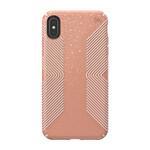 Противоударный чехол Speck Presidio Grip + Glitter Bella Pink With Gold Glitter/Dahlia Peach для iPhone XS Max