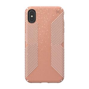 Купить Противоударный чехол Speck Presidio Grip + Glitter Bella Pink With Gold Glitter/Dahlia Peach для iPhone XS Max