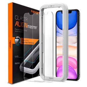 Купить Защитное стекло Spigen AlignMaster Screen Protector для iPhone 11 (2 Pack)