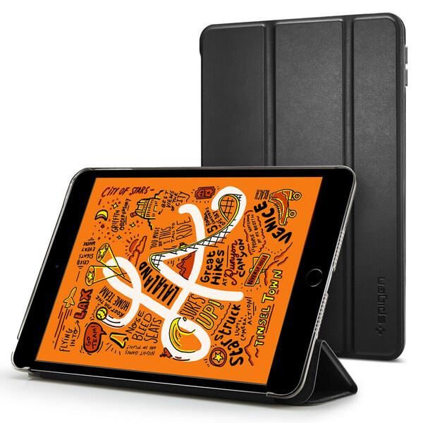 Кожаный чехол Spigen Case Smart Fold Black для iPad mini 5