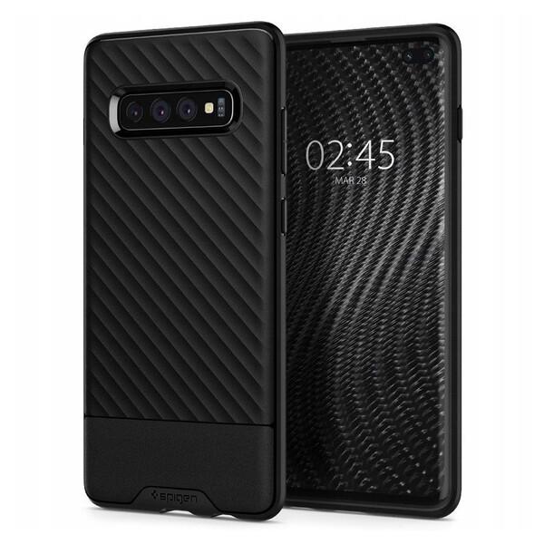 Противоударный чехол Spigen Core Armor Black для Samsung Galaxy S10 Plus