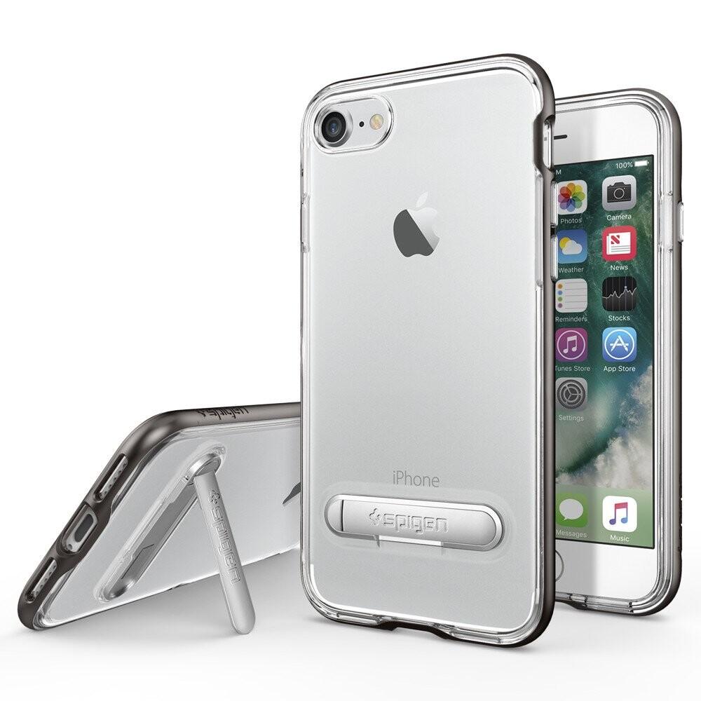 Чехол Spigen Crystal Hybrid Gunmetal для iPhone 7/8
