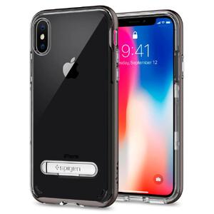 Купить Чехол Spigen Crystal Hybrid Gunmetal для iPhone X/XS