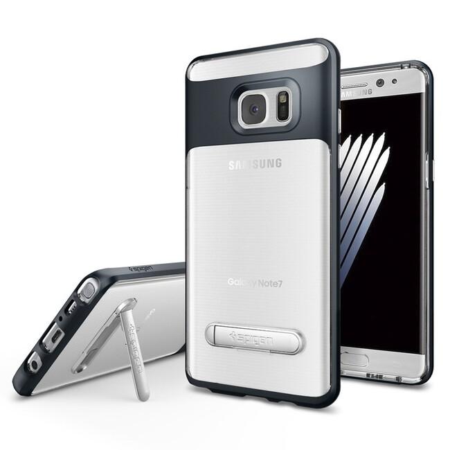 Чехол Spigen Crystal Hybrid Metal Slate для Samsung Galaxy Note 7