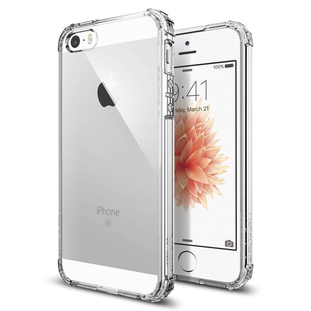 Чехол Spigen Crystal Shell Clear Crystal для iPhone SE/5S/5