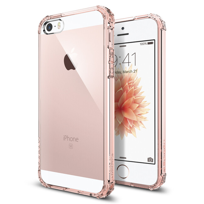 Чехол Spigen Crystal Shell Rose Crystal для iPhone SE/5S/5