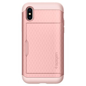 Купить Чехол Spigen Crystal Wallet Rose Gold для iPhone X/XS