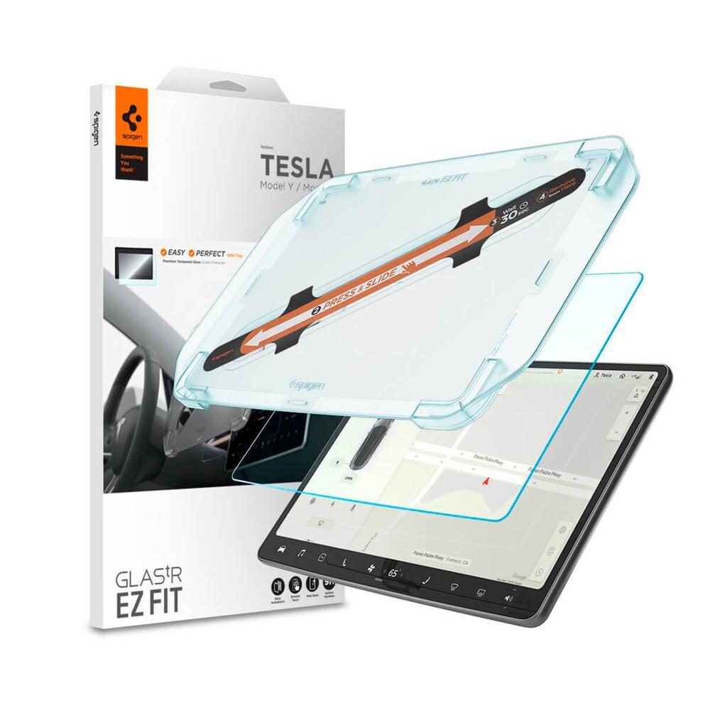 Купить Защитная стекло на экран Spigen EZ FIT GLAS.tR для Tesla Model 3/Y