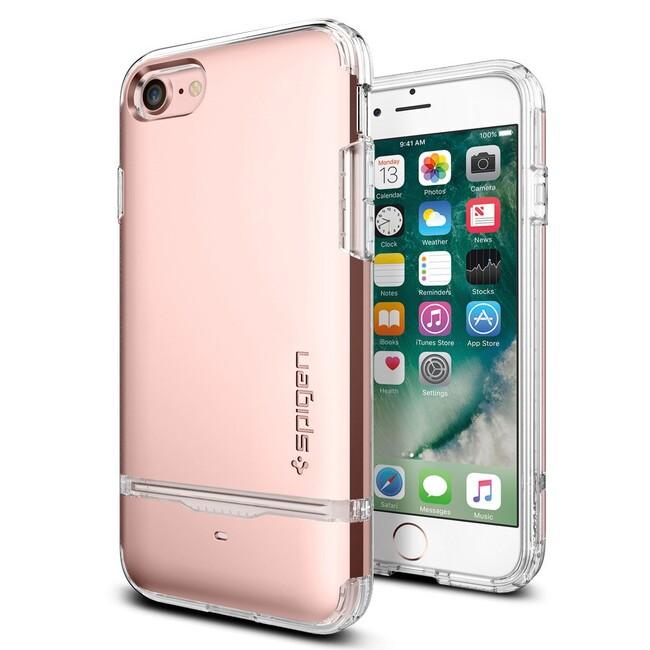 Чехол Spigen Flip Armor Rose Gold для iPhone 7