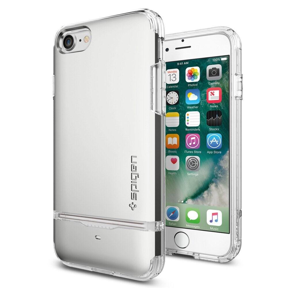 Чехол Spigen Flip Armor Satin Silver для iPhone 7/8