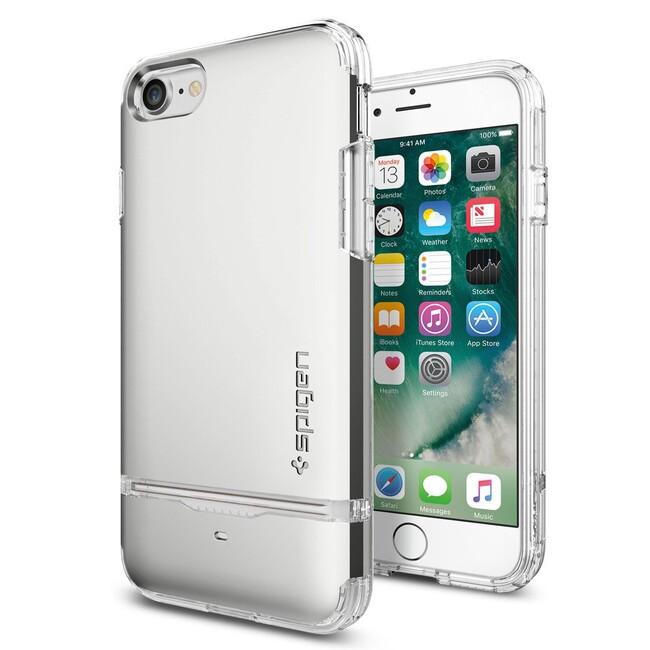 Чехол Spigen Flip Armor Satin Silver для iPhone 7