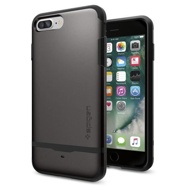 Чехол Spigen Flip Armor Gunmetal для iPhone 7 Plus | 8 Plus (Витринный образец)