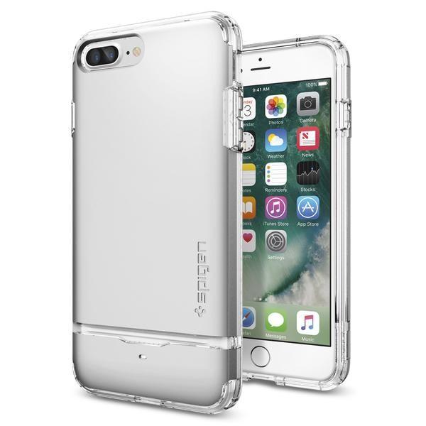 Чехол Spigen Flip Armor Satin Silver для iPhone 7 Plus/8 Plus