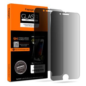 Купить Защитное стекло анти-шпион Spigen GLAS.tR SLIM Privacy для iPhone 7/8 (2 стекла)