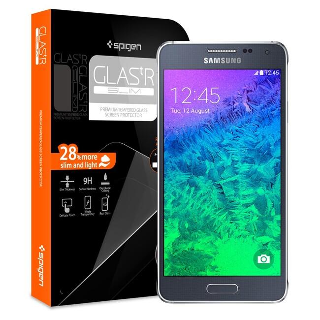 Защитное стекло Spigen GLAS.tR SLIM для Samsung Galaxy Alpha