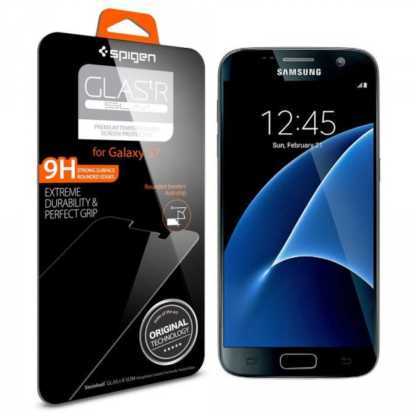 Купить Защитное стекло Spigen GLAS.tR SLIM HD для Samsung Galaxy S7