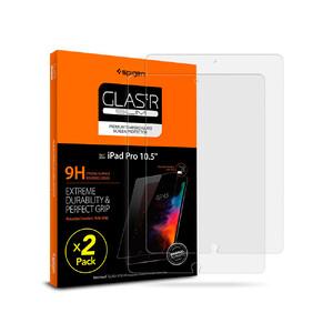 """Купить Защитное стекло Spigen GLAS.tR SLIM для iPad 7 10.2""""/Air 3/Pro 10.5"""" (2 стекла)"""