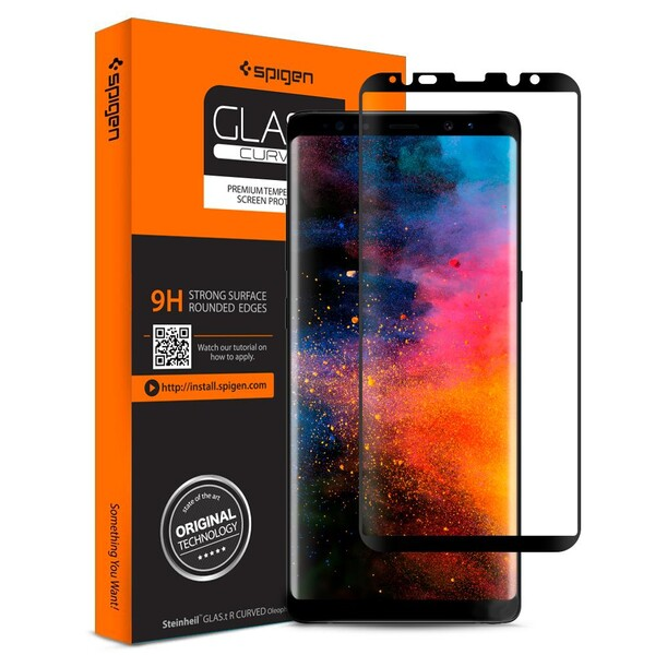 Защитное стекло Spigen GLAS.tR Curved для Samsung Galaxy Note 8