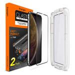 Защитное стекло Spigen GLAS.tR EZ FIT Edge to Edge для iPhone 11/XR (2 стекла + рамка для поклейки)