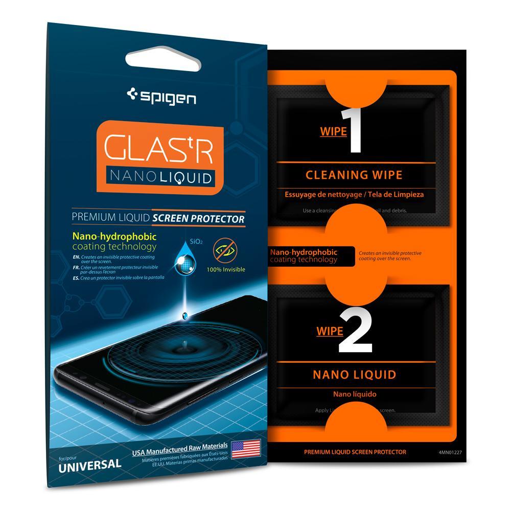 Купить Гелиевая защитная пленка Spigen GLAS.tR Nano Liquid