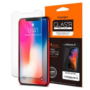 Купить Защитное стекло Spigen GLAS.tR SLIM для iPhone X/XS (2 стекла)