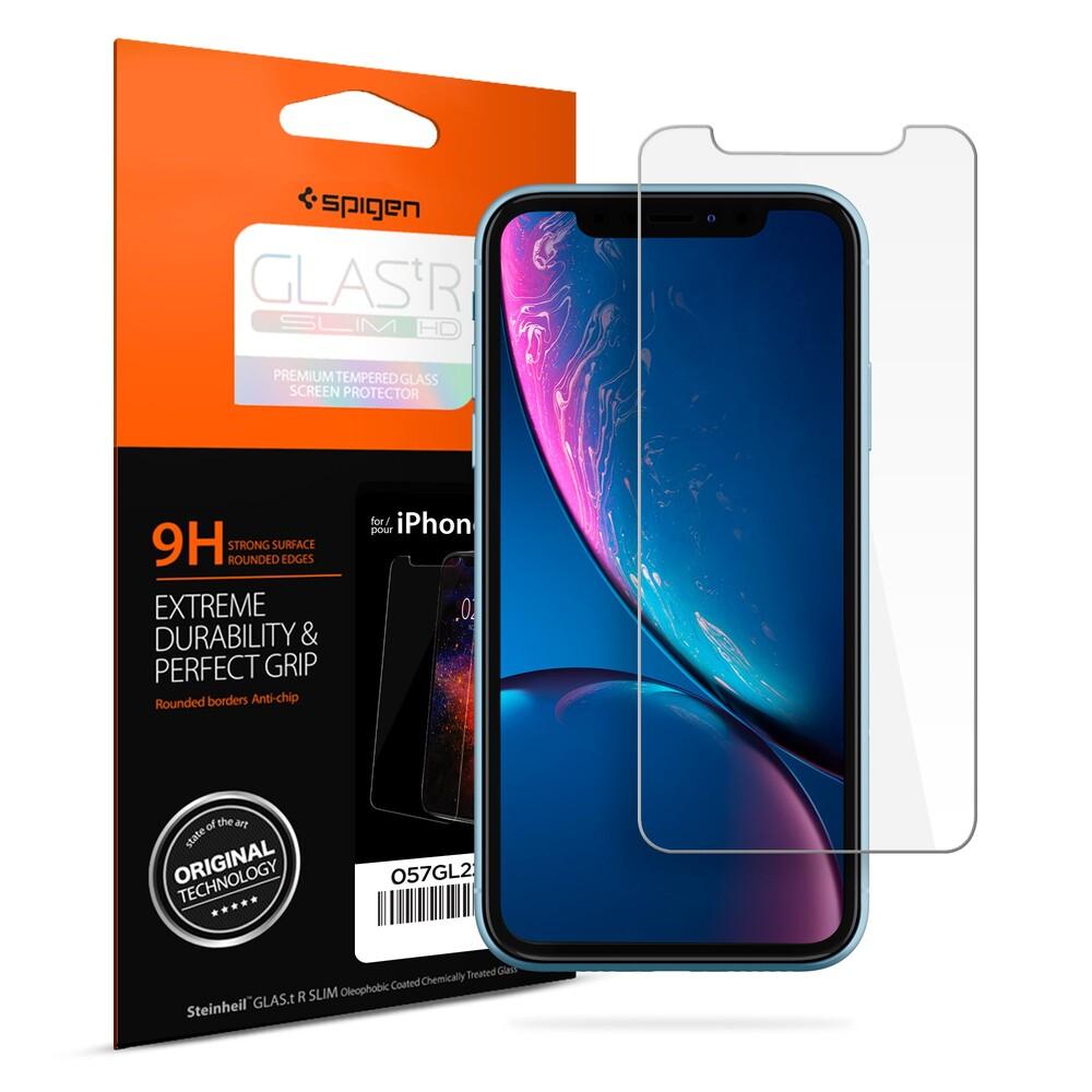 Купить Защитное стекло Spigen GLAS.tR SLIM HD для iPhone 11 | XR
