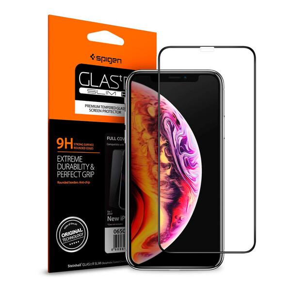 Защитное стекло Spigen GLAS.tR SLIM 9H Full Cover для iPhone 11 Pro Max   XS Max