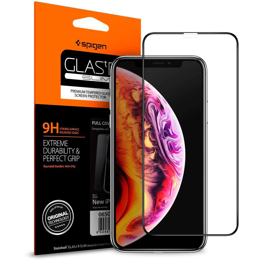 Купить Защитное стекло Spigen GLAS.tR SLIM для iPhone 11 | XR