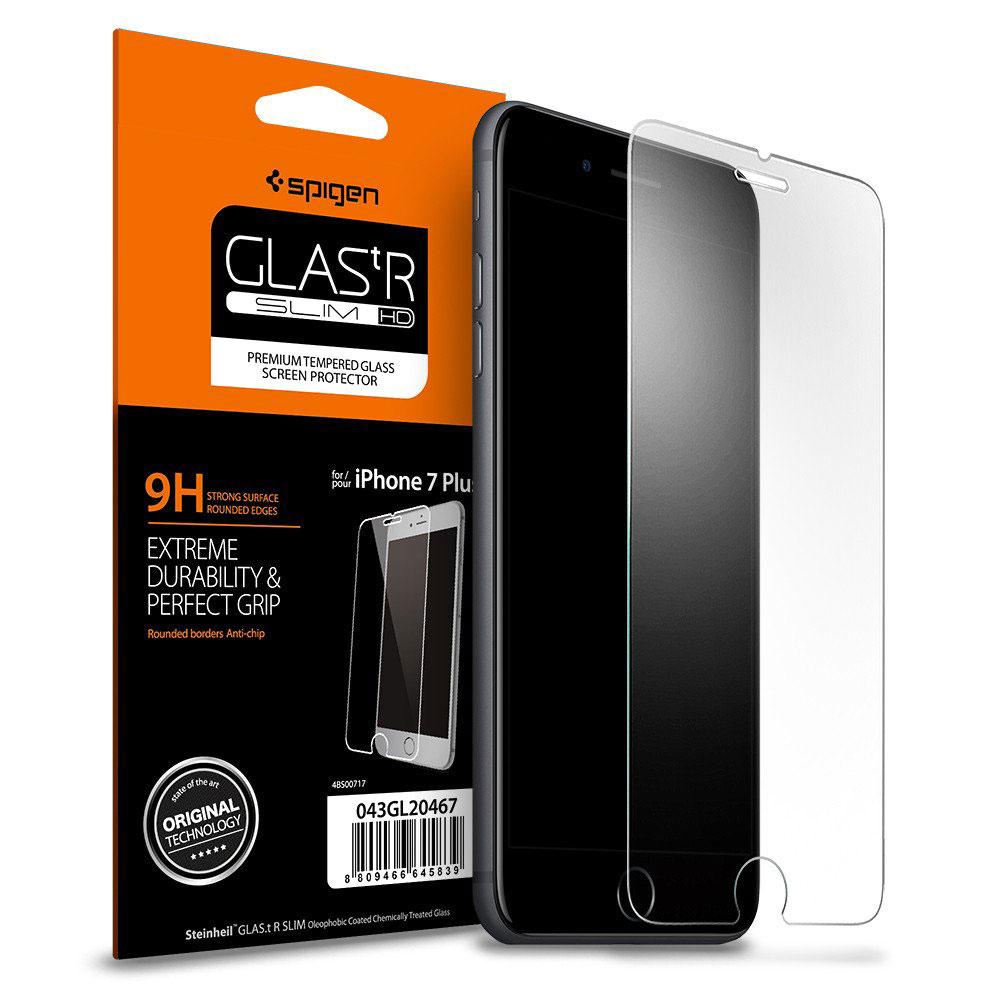 Купить Защитное стекло Spigen GLAS.tR SLIM для iPhone 7 Plus | 8 Plus (2 стекла)